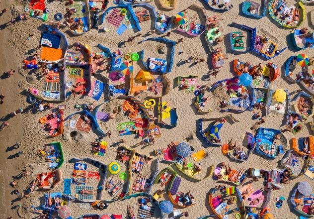 Dzień na plaży we Władysławowie - Kacper Kowalski