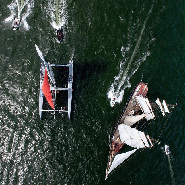 Tall Ships Races nad morzem z lotu ptaka